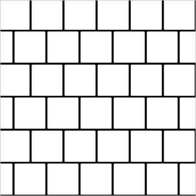 układ płytek kwadratowych- prosty