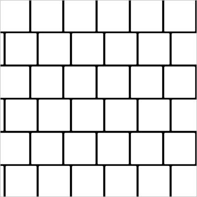 układ płytek kwadratowych - przesuniecie małe