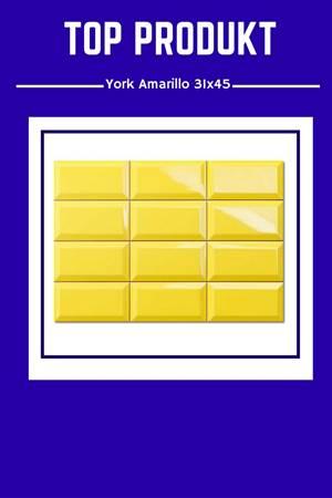 York Amarillo 31×45 – Błyszczące żółte cegiełki