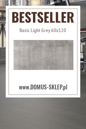 Matowa glazura betonopodobna – Basis Light Grey 60×120