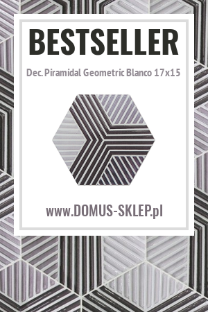 Dec. Piramidal Geometric Blanco 17×15