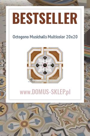Octogono Musichalls Multicolor 20×20