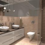 łazienka cała w drewnie