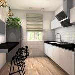 płytki cegiełki w kuchni