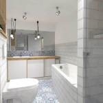 łazienka z płytek cegiełek