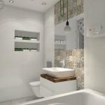 motyw patchworku w łazience