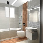 drewno i beton w łazience