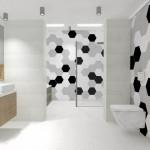 ciekawy wzór pod prysznicem