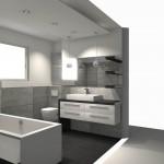 łazienka w betonowym stylu