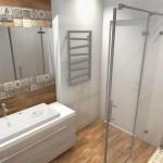 dekoracyjny motyw patchworku w łazience