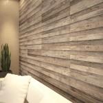 ciekawy efekt drewna na ścianie