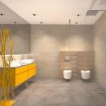 żółte meble do łazienki