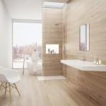 łazienka skąpana w drewnie