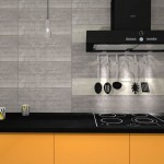 szare płytki w kuchni