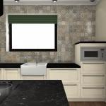 czarny blat w kuchni