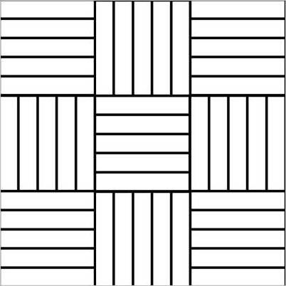 układ płytek prostokątnych - naprzemienny