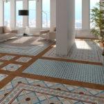 niebieska podłoga