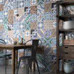 patchwork na ścianie