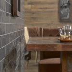 płytki cegiełki w restauracji