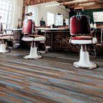 salon fryzjerski w stylu retro