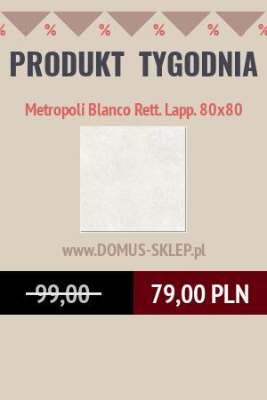Metropoli Blanco Rett. Lapp. 80×80