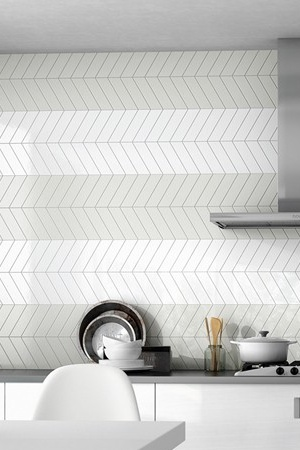 Chevron Wall White Left and Right 18,6×5,2
