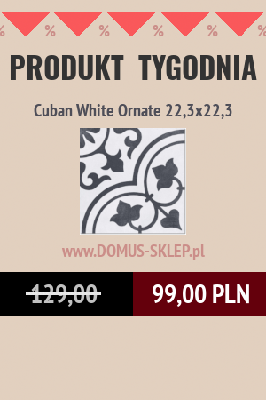 Cuban White Ornate 22,3×22,3