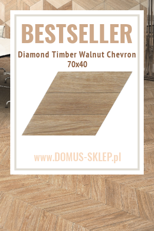 Diamond Timber Walnut Chevron 70×40