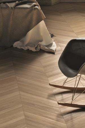 Sleek Wood Chevron White i Beige 11×54