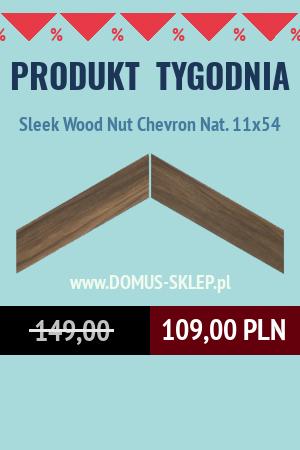 Sleek Wood Nut Chevron Nat. 11×54