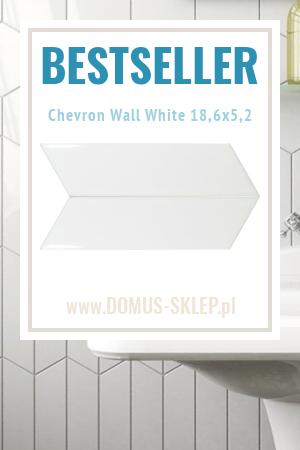 Chevron Wall White Right 18,6×5,2