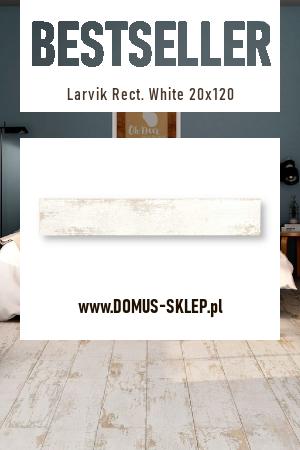 Larvik Rect. White 20×120