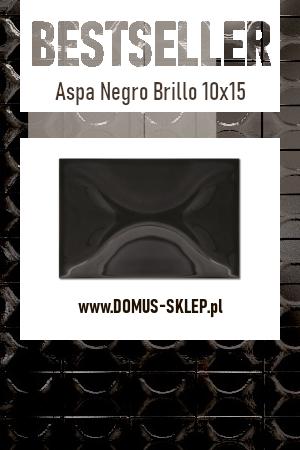 Aspa Negro Brillo 10×15