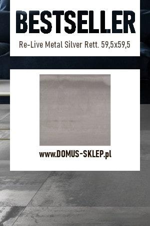 Re-Live Metal Silver Rett. 59,5×59,5