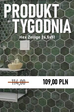 Hex Zellige 26,5×51